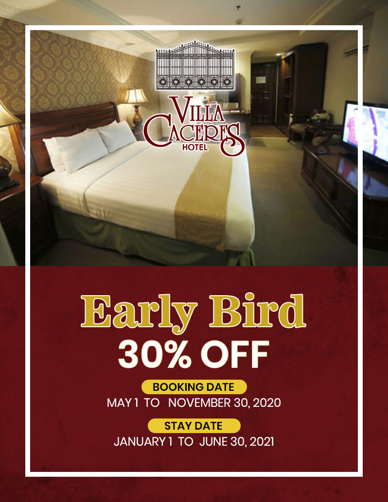 Villacaceres Hotel - Early Bird Promo